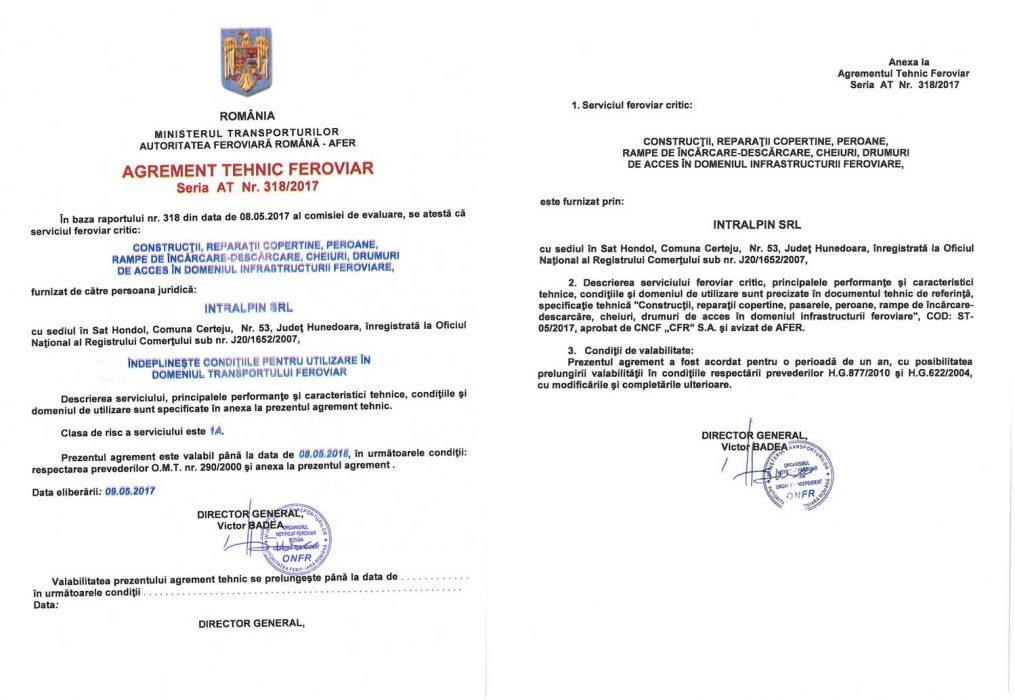 Autorizatie Agrement Tehnic Feroviar