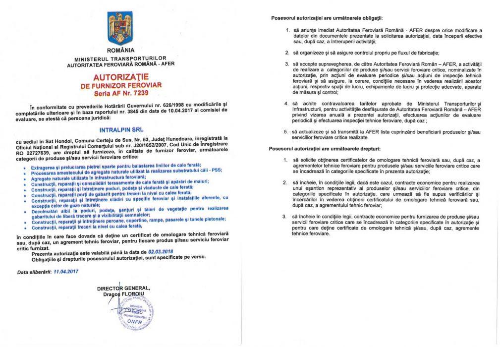 Autorizatii AFER