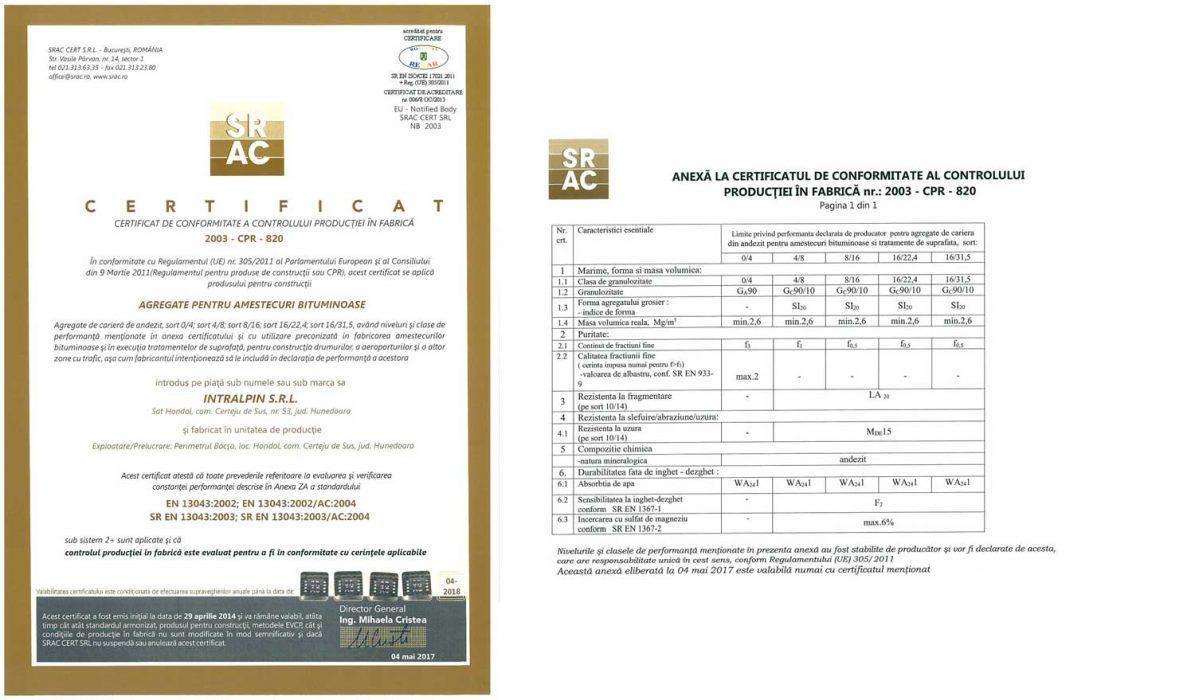 Certificari SRAC